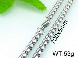 Halsband 70 cm*5 mm Rostfritt Stål HRF3141