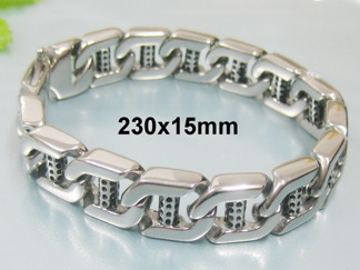 Armband 23 cm*15 mm Rostfritt Stål ARF3179