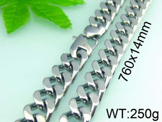 Halsband 76 cm*14 mm Rostfritt Stål HRF3144