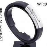 Armband 20,5 - 22 cm*12 mm Läder AL4200