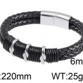 Armband 22 cm*12 mm Läder AL4198