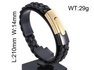 Armband 21 cm*14 mm Läder AL4199
