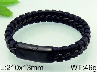 Armband 22,5 cm*13 mm Läder AL4194