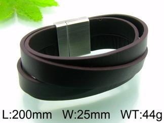 Armband 20 cm*25 mm Läder AL4196