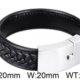 Armband 22 cm*20 mm Läder AL4202