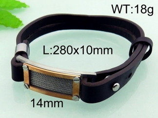 Armband 21-28 cm*10 mm Läder AL4203