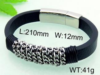 Armband 21 cm*12 mm Läder AL4206