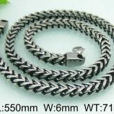 Halsband 56 cm*6 mm Rostfritt Stål HRF3148