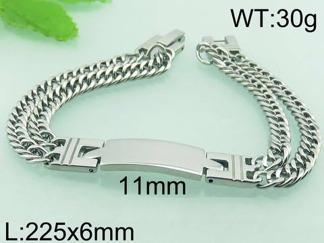 Armband 22,5 cm*11 mm Rostfritt Stål ARF3189