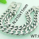 Armband 19,5/21,5 cm*11 mm Rostfritt Stål ARF3191