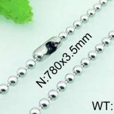 Halsband  Rostfritt Stål  78 cm* 3 mm HRF3152