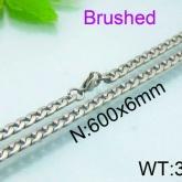 Halsband 60 cm*6 mm Rostfritt Stål HRF3154