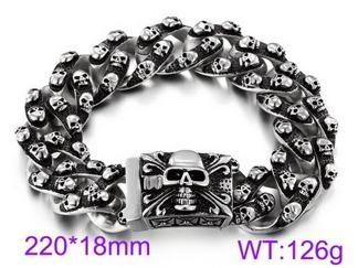 Armband 22 cm*18 mm Rostfritt Stål ARF3195