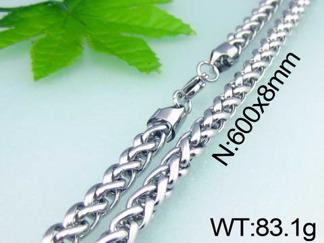 Halsband 60 cm*8 mm Rostfritt Stål HRF3157