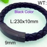 Armband 22 cm*10 mm Läder AL4214