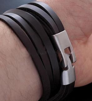 Armband 22 cm*10 mm Läder AL4216
