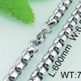 Halsband 60 cm*6,5 mm Rostfritt Stål HRF3170
