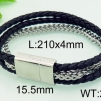 Armband 21 cm*15 mm Läder AL4217