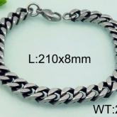 Armband 21 cm*8 mm Rostfritt Stål ARF3220