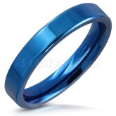 Ring blå rostfritt stål