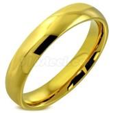 Ring guldfärgad pläterad rostfritt stål