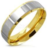 Ring 2-tone färgad rostfritt stål