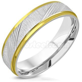 Ring 2-tone satin finish rostfritt stål