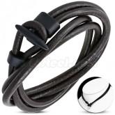 Halsband/Armband brunt läder
