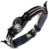 Armband Fashion rope svart Läder