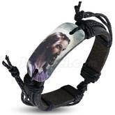 Armband Jesus Christ svart Läder