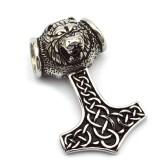 Hänge Viking Tors Hammare rostfritt stål
