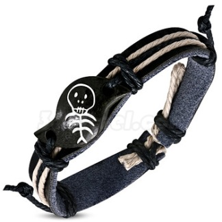 Armband Fashion rope svart Läder