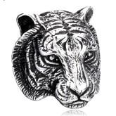 Ring Tigerhuvud Rostfritt Stål