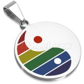 Hänge Rainbow Yin-Yang Rostfritt Stål