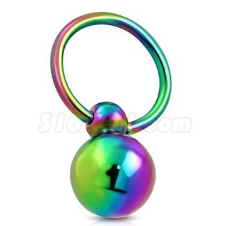 Piercing Rainbow Rostfritt Stål