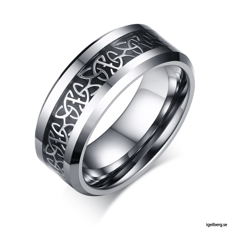 Wholesale%20Celtic%20Trinity%20Knot%20Inlayed%20Tungsten%20Ring%20Manufacturer