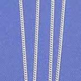 Halskedja Pansarlänk Silver 42 cm