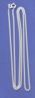 Halskedja Pansarlänk Silver 50 cm