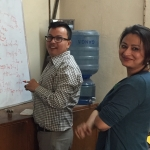 Dr Ashish KC and PhD student Nisha Rana
