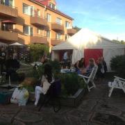 Spelning på privat kräftskiva i Nyfors i Eskilstuna