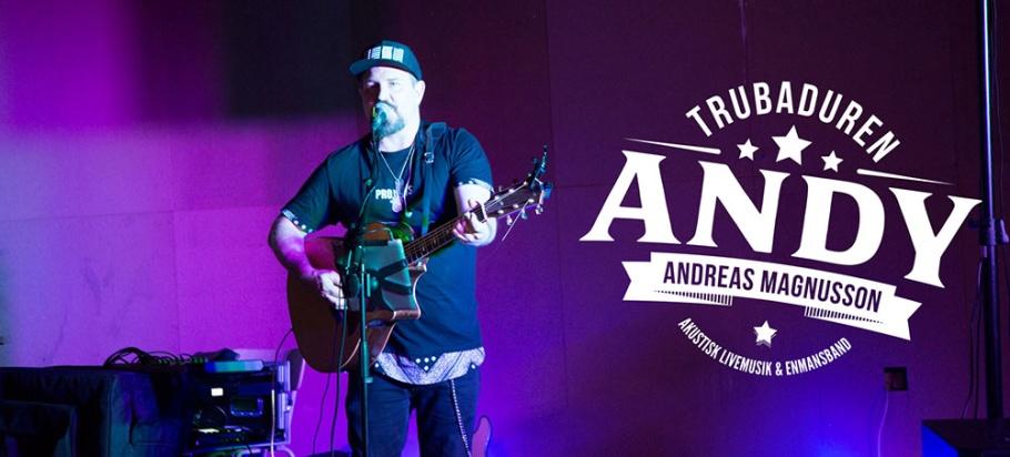 "Boka trubadur i Stockholm - Trubadur Andreas ""Andy"" Magnusson"