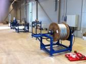Maskinlinje för avmätning av stålwire