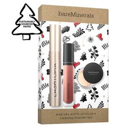 bareMinerals Mascara Matte Lip Color & Finishing Powder Trio - Mascara Matte Lip Color & Finishing Powder Trio