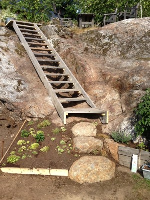 Färdig trappa