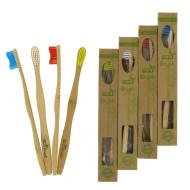 ECO Brush - Fyra tandborstar i bambu