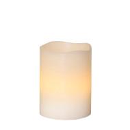 Vitt LED-vaxljus 10 cm
