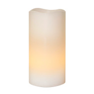 Vitt LED-vaxljus 15 cm
