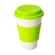 Limefärgad ECO Cup - Take-away mugg i bambufiber