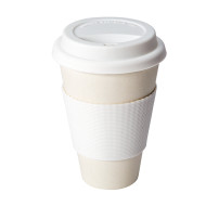Vit ECO Cup - Take-away mugg i bambufiber