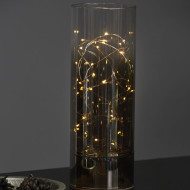 Glasvas med LED-ljusslinga